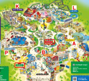 アトラクションのエリア記号の意味・全年齢共通でOKのエリアと地図