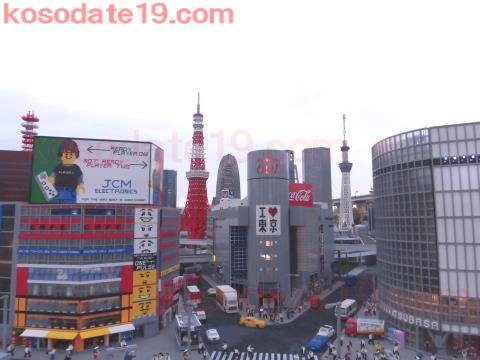 ミニランド東京タワーとスカイツリー
