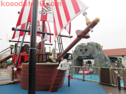 キャスタウェイ・キャンプ海賊船レゴランド