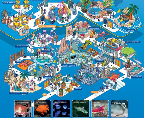 レゴランド水族館sea life館内サンディエゴ