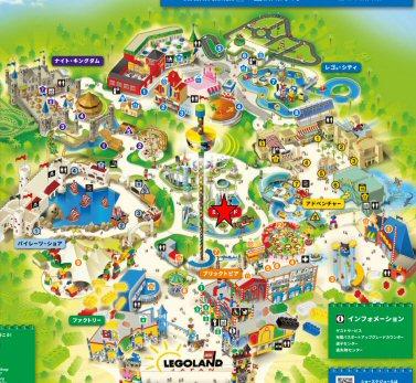 レゴランドジャパンMiniland(ミニランド)マップ