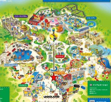 mレゴランドジャパンレゴファクトリーマップ