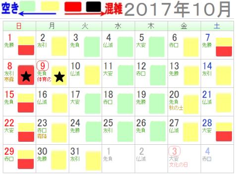 レゴランドジャパン名古屋10月混雑カレンダー