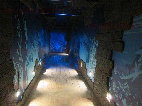 レゴランドの水族館シーライフの通路にある床に埋め込まれた水槽1