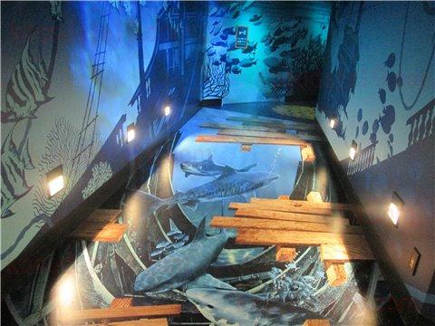 レゴランドの水族館シーライフの通路にあるトリックアート。フォトスポットです。