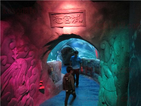 シーライフ名古屋の竜宮城。シーライフナゴヤのテーマであった「浦島太郎」の世界のゾーン。(SEALIFEレゴランドの水族館)1