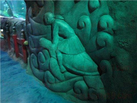 シーライフ名古屋の竜宮城。シーライフナゴヤのテーマであった「浦島太郎」の世界のゾーン。(SEALIFEレゴランドの水族館)7