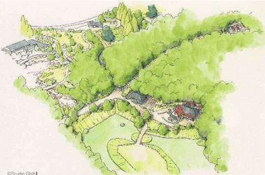 ジブリパーク完成予想図 どんどこ森エリアサツキトメイの家自然空間