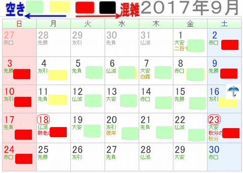 長島スパーランドプール混雑状況20173年9月