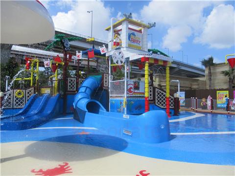 レゴランド水遊びレゴ・シティ・ビーチ・パーティ全体