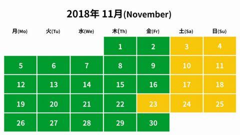 2018年11月レゴランド入園料金
