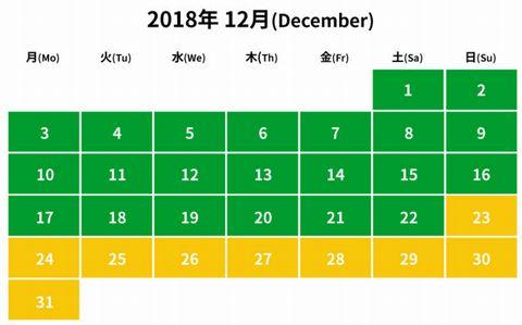 2018年12月レゴランド入園料金