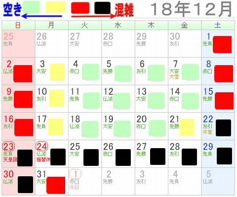 レゴランドジャパン名古屋2018年12月混雑予想カレンダー