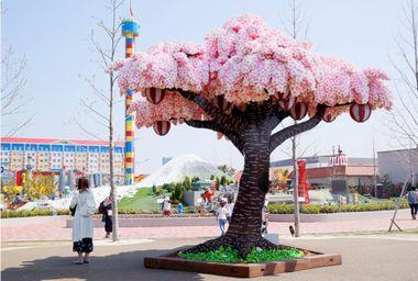 レゴブロックの桜