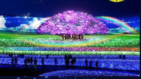 なばなの里イルミネーション奇跡の大樹